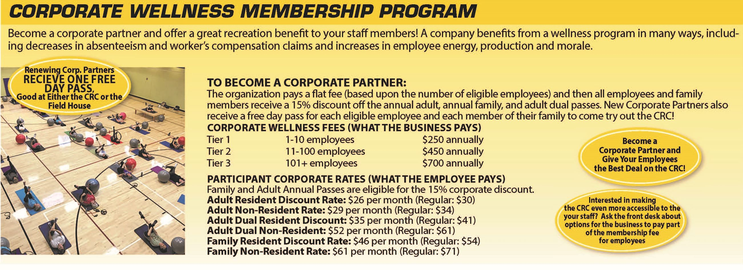 Corporate Partner Annual Pass Information