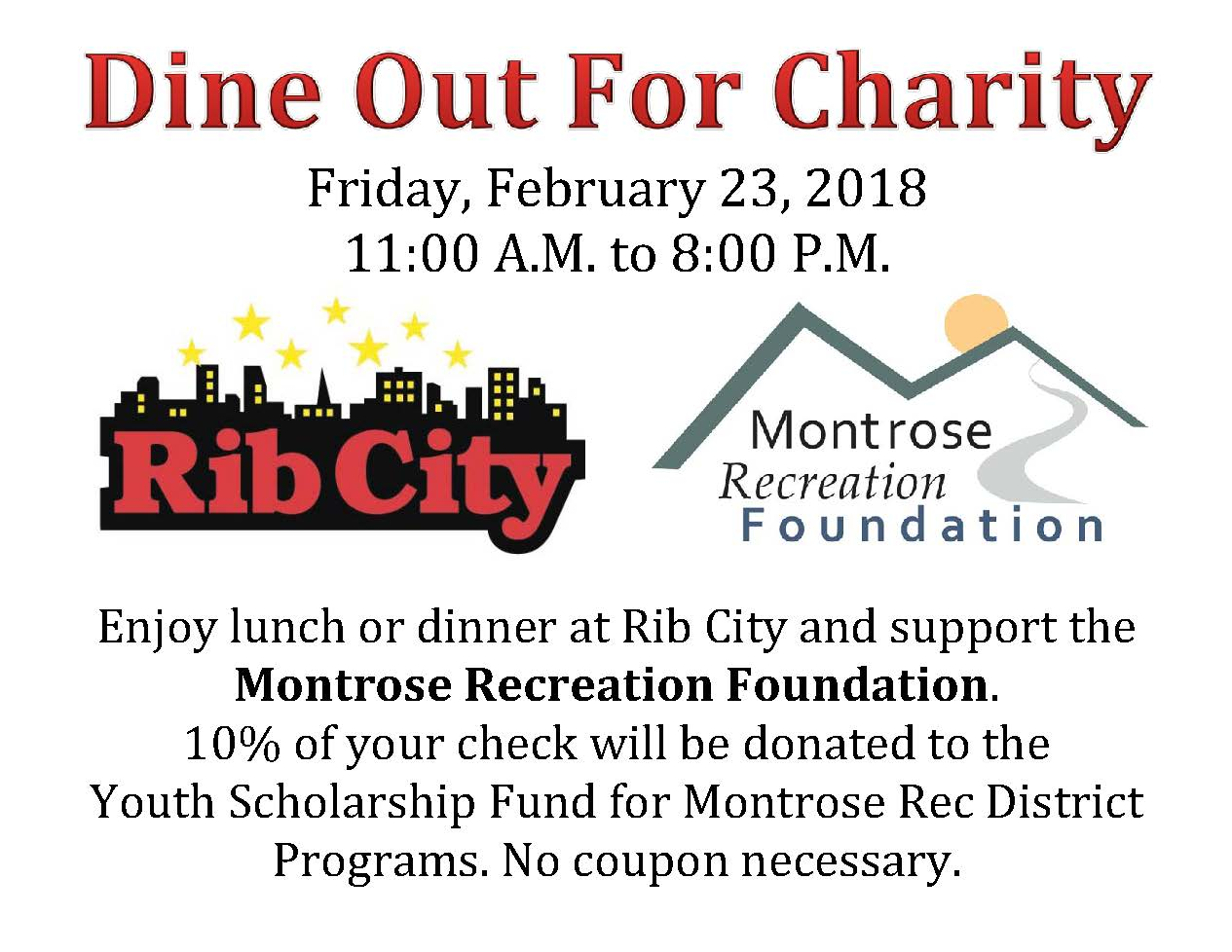 Dine Out for Charity at Rib City Feb. 23